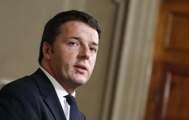 El líder democrático y primer ministro designado, Matteo Renzi, en...