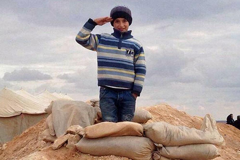 Otro de los niños que se encuentran en el campamento de refugiados de Jordania.