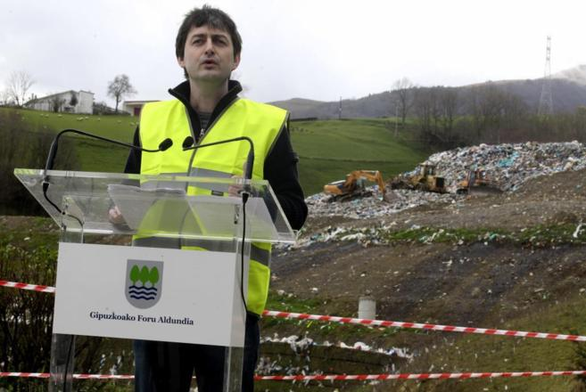 El diputado de Medio Ambiente de Gipuzkoa, Iñaki Errazkin, en el...