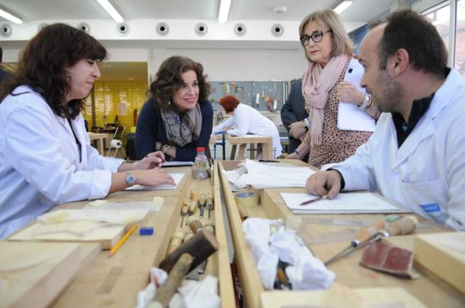 La alcaldesa de Madrid, Ana Botella, durante la presentación del...