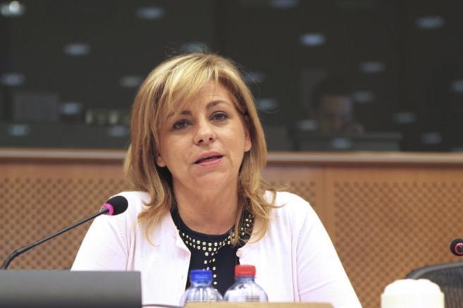 La vicesecretaria general del PSOE, Elena Valenciano, en Bruselas.