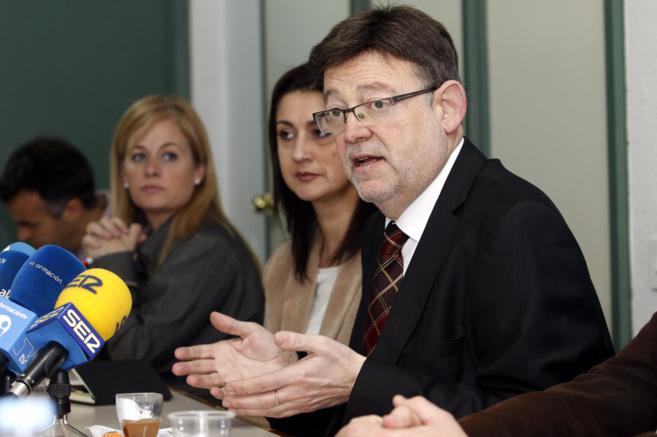 Puig, durante su intervención, este miércoles, en Alicante.