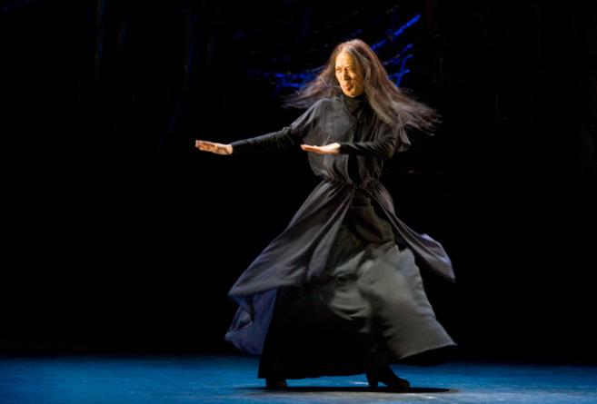 Shoji Kojima, durante su actuación en el Teatro Villamarta, en una...