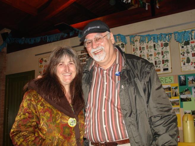 Alberto LOzano y su mujer, Angie.