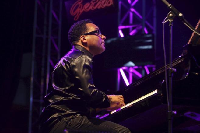 Un pianista cubano en concierto en el Festival de Jazz de Getxo.