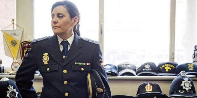 La inspectora en su despacho de la comisaría central de Policía, en...