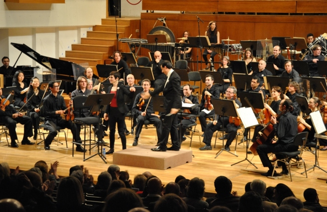 Un momento del concierto de la Orquesta Ciudad de Granada.