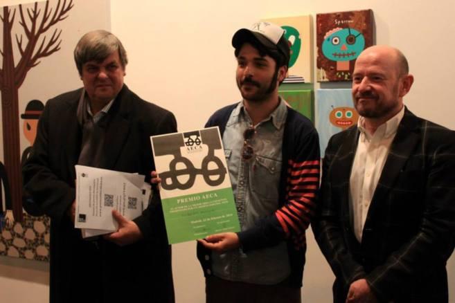 El presidente de AECA, Tomás Paredes, Albert Pinya y el director de...