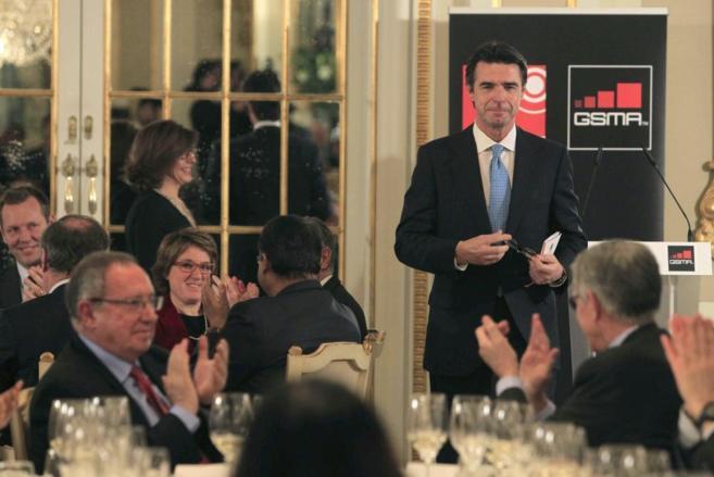 El ministro de Industria, José Manuel Soria, en la cena de GSMA y la...
