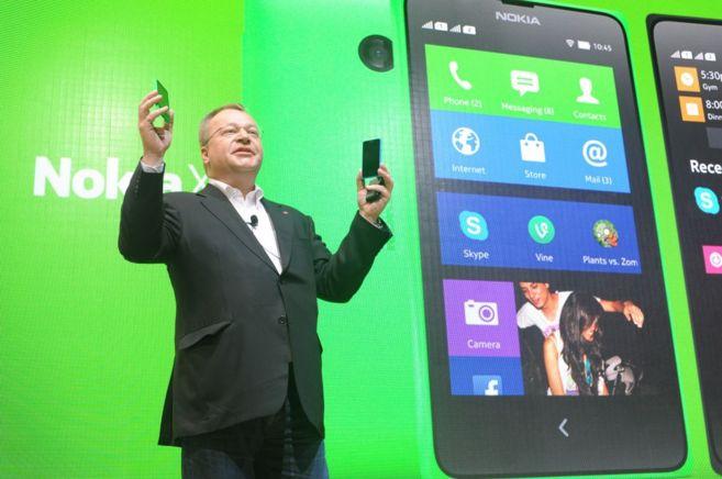 Stephen Elop, consejero delegado de Nokia, en la presentación de la...