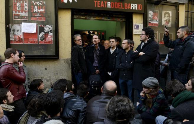 Pablo Iglesias en la presentación de Podemos el pasado enero.