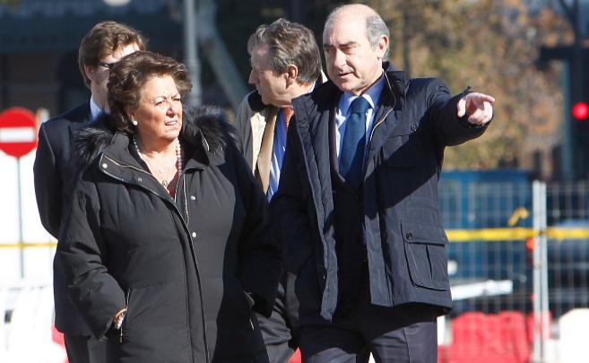 Alfonso Novo junto a la alcaldesa de Valencia, Rita Barberá.