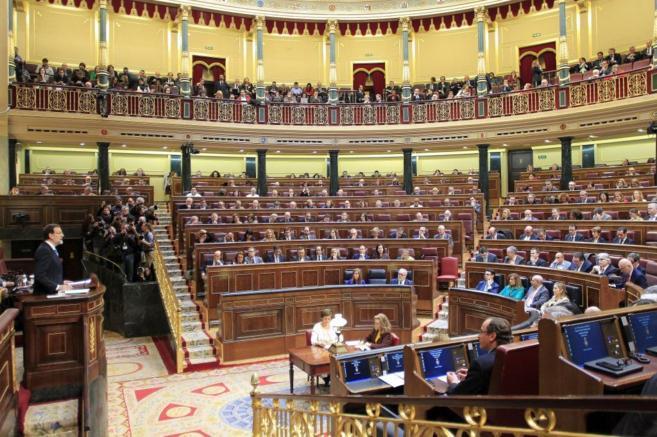 Mariano Rajoy, en un momento del Debate sobre el estado de la Nación.