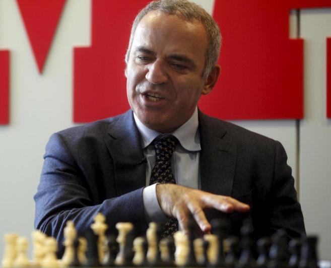 Garry Kasparov, durante la entrevista en Madrid.