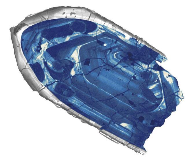 Corte transversal del zircón datado como el mineral más antiguo de...