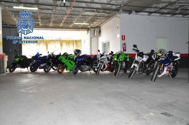 Las motos requisadas por la Policía.