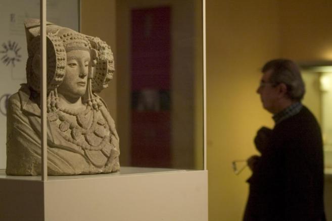 La Dama de Elche, busto íbero con más de 2.500 años, es uno de las...