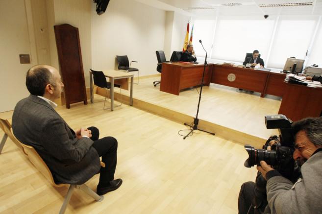 Alejandro Soler, durante su declaración en la Ciudad de la Justicia...