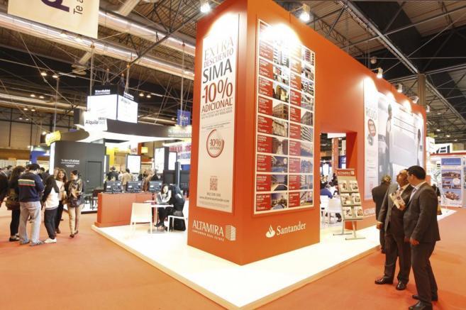 Imagen del stand de Altamira (Banco Santander) en la pasada edición...
