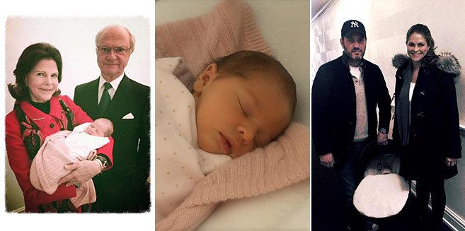 Primeras imágenes de Leonor, con sus abuelos y sus padres.