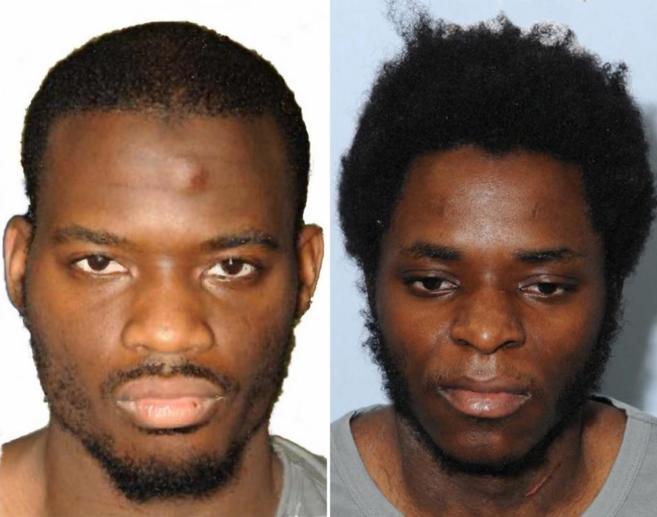 Michael Adebolajo (izqd) y Michael Adebowale (dcha) en las fotos...