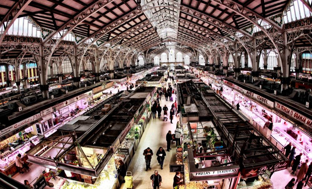 Vista general del Mercado Central de Valencia.