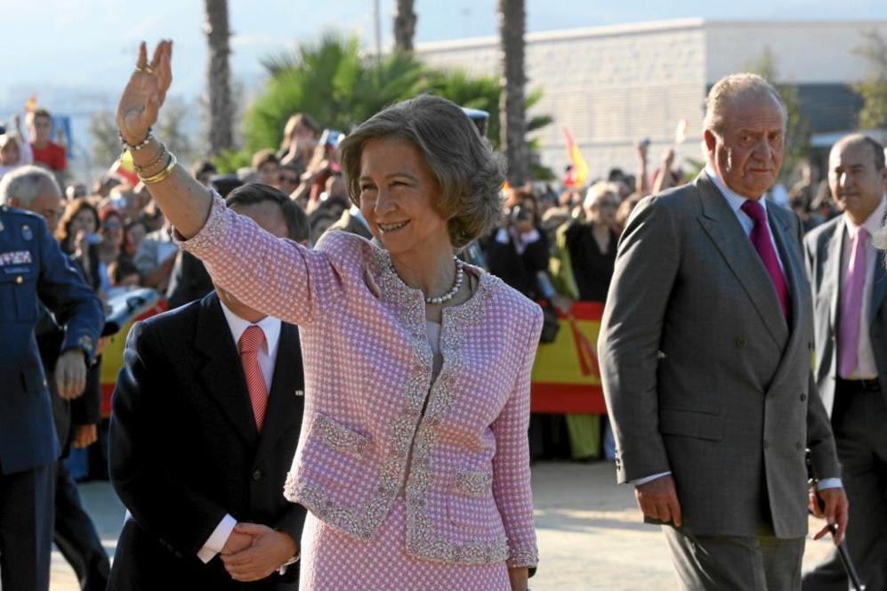 Con el rey Juan Carlos, durante una visita a Ceuta en 2007.