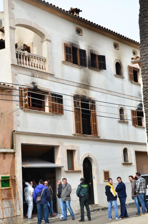 Imagen del inmueble tras el incendio.
