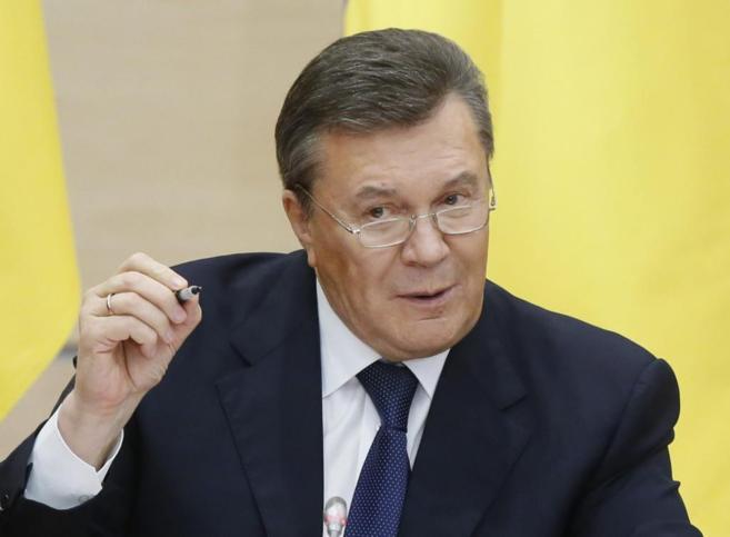 Víktor Yanukovich durante la rueda de prensa celebrada en la ciudad...