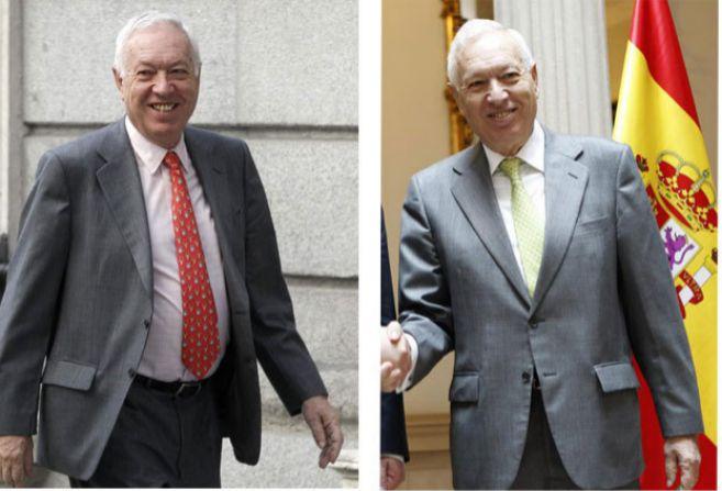 A la izda., Margallo cuando fue nombrado ministro en 2011. Dcha., una...