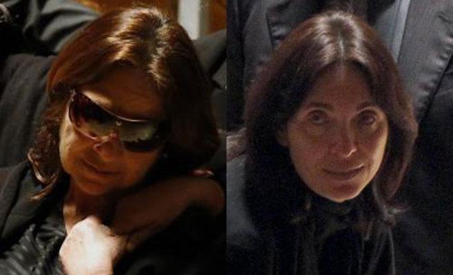 Casilda Varela y Gabriela Canseco durante el velatorio de ayer en...