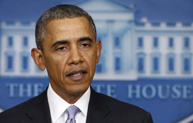 El presidente de EEUU durante su comparecencia