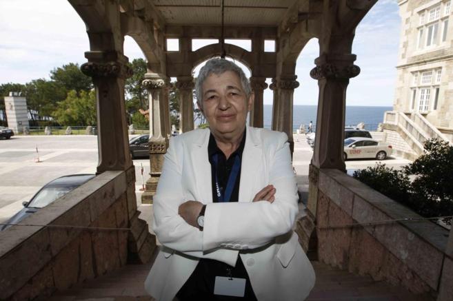 Ana María Moix en los cursos universitarios de Santander.