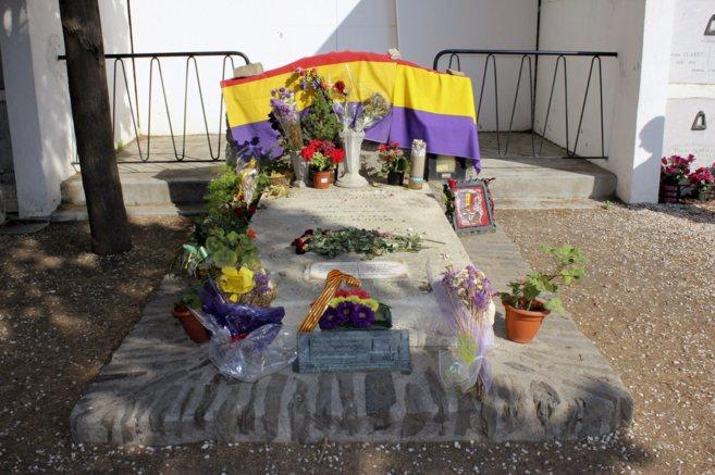 Tumba de Antonio Machado en Collioure (sur de Francia).