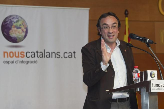 Josep Rull, en el acto de la fundación de CDC Nous Catalans