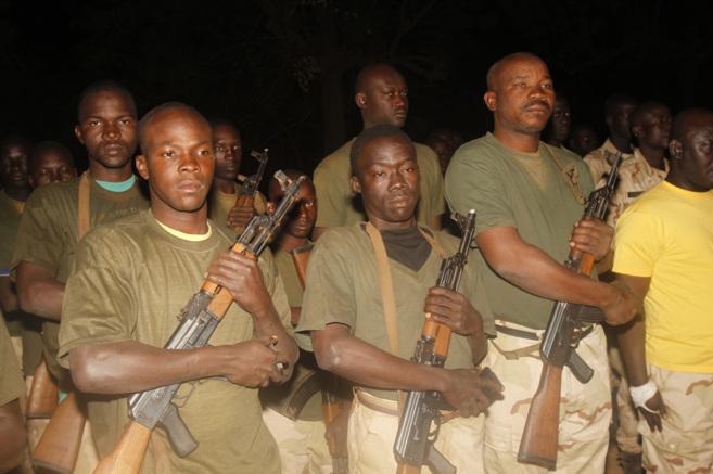 Militares malienses que entrenados por las fuerzas españolas.