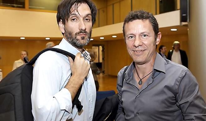 Ricardo García Vilanova y Javier Espinosa, en uno de sus encuentro en...