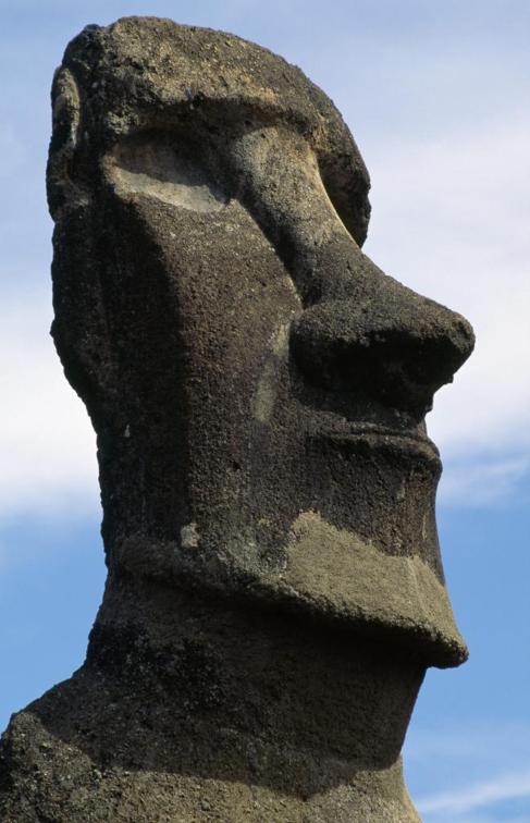 Uno de los 'moais' en la Isla de Pascua.