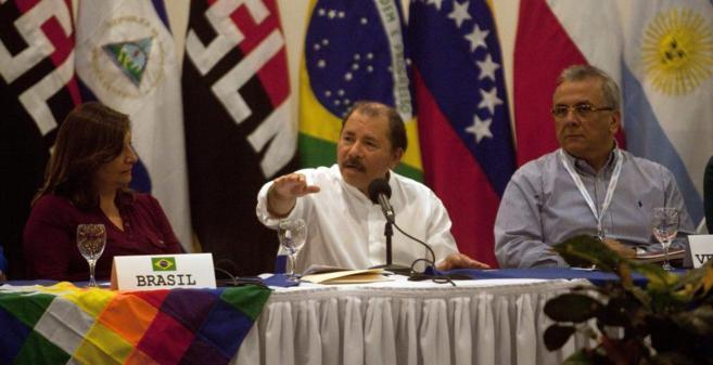 Daniel Ortega, el 20 de febrero, en una de sus últimas apariciones...