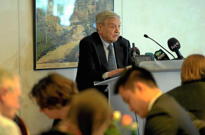El magnate George Soros durante una intervención en el Foro...