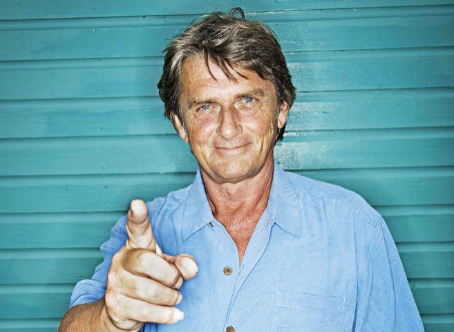 Mike Oldfield, en su residencia bahameña.