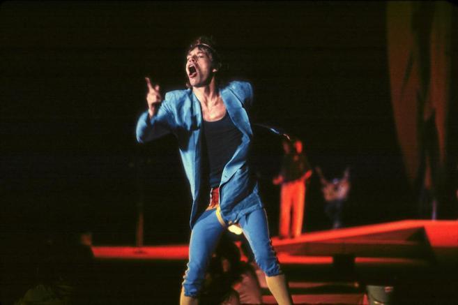 Mick Jagger, en uno de los conciertos de los Rolling Stones en el...