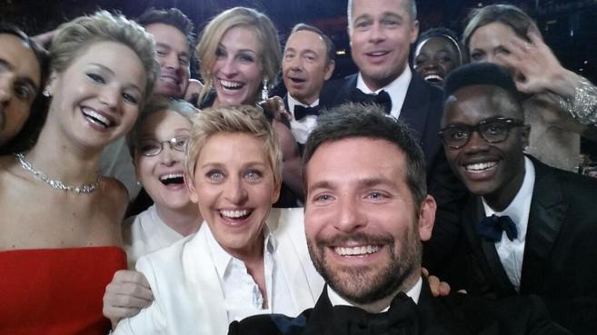 La foto compartida por Ellen DeGeneres en Twitter.