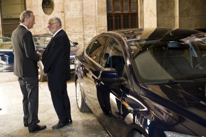 El president de la Generalitat, Alberto Fabra y Juan Cotino.