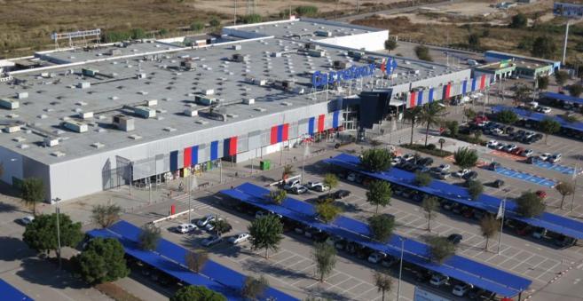 Vista del actual centro comercial Carrefour de El Prat