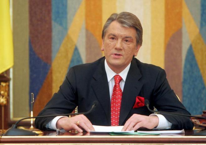 Viktor Yuschenko, durante una rueda de prensa en Kiev cuando era...