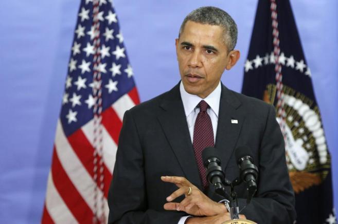 El presidente Barack Obama presentando el presupuesto para el año...