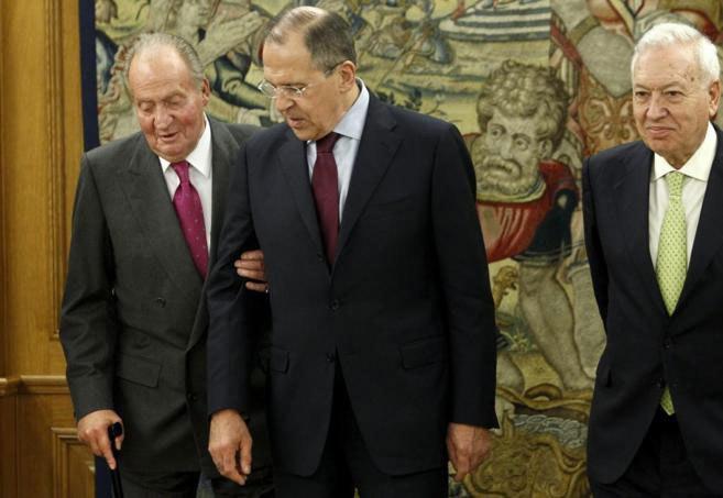 El Rey recibe al ministro ruso de Exteriores, Serguei Lavrov, en...