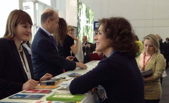 La alcaldesa de Madrid, Ana Botella, durante su visita a Berlín.