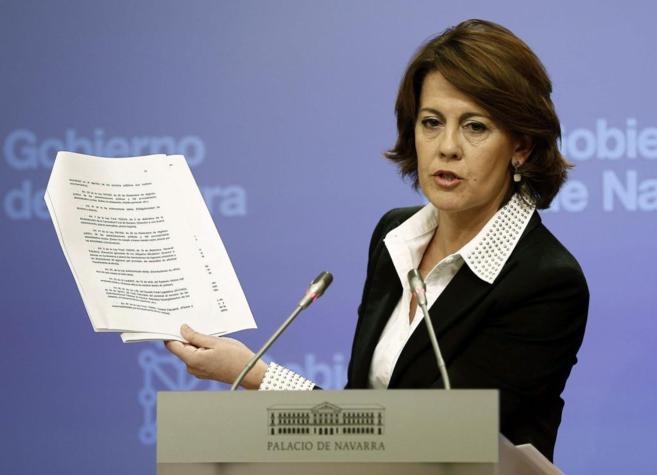 La presidenta del Gobierno de Navarra, Yolanda Barcina, el pasado 28...